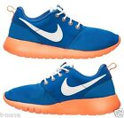 NIKE ROSHE ONE KID's GS CASUAL GAME ROYAL - TOTAL ORANGE - WHITE AUTHENTIC NEW