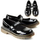 KIDS GIRLS DR MARTENS MACCY MARY VELCRO BLACK LEATHER BACK TO SCHOOL SHOES SIZE