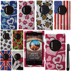 For Nokia Lumia 1020 GEM DIAMOND BLING CRYSTAL HARD Case Phone Cover + Pen