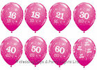 """20 Fuchsia Hot Pink Helium / Air Balloons Happy Birthday Party Decorations 11"""""""