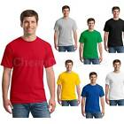 Mens T-Shirt HOT Blank Basic Plain TEE Short Sleeve Man Cotton Tops  HFCA