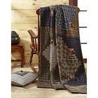 "CARRINGTON QUILTED THROW BLANKET 55X70"" LOG CABIN MULTI COLOR"