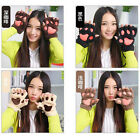 Woman Fluffy Bear/Cat Plush Paw/Claw Glove lady's half covered gloves mittens
