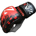 Rex Leather Grappling Gloves Training Mitts Cage Fight MMA Muay Thai Gloves
