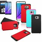 Shockproof Rugged Armor Hybrid Hard Cover Case For Samsung Galaxy Note 5+Film