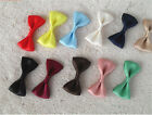 Hot Brand New 1Pair(2Pcs) Korean Hair Bows Clips Satin Hairpin Side folder HFUS#