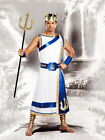 Poseidon Sea God Tunic  Trident Sash Egyptian Greek Roman Costume Adult Men