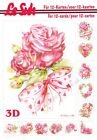 Roses & Love A5 3D Decoupage Book Le Suh Card Making Paper Crafts CUTTING REQ