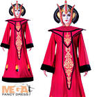 Queen Amidala Ladies Star Wars Fancy Dress Film Womens Adults Costume Outfit New