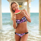 Sexy 2015 Women Bandage Bikini Set Triangle Swimsuit Swimwear Push-up Padded Bra