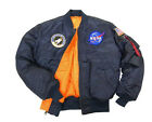 ALPHA INDUSTRIES NASA MA-1 FLIGHT PILOT JACKET WITH PATCHES