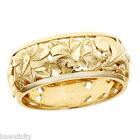 Hawaiian Heirloom Jewelry 14k Yellow Gold Cut Out Hibiscus Dome Ring
