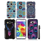 For Samsung Galaxy Core Prime G360 Snap On PATTERN HARD Case Phone Cover + Pen