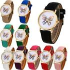 Vogue  Watch Ladies Faux Leather Butterfly Print Analog Quartz Wrist Watch