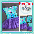 Kids Frozen ELSA Princess Birthday Wedding Party Outfit Girls Dresses SIZE 3T-4T