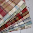 SKYE WOOL TOUCH HEATHER TARTAN CHECK INTERIORS FABRIC curtain upholstery
