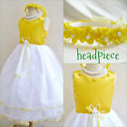 Gorgeous Yellow Sunbeam pageant flower girl party dress size 2 4 6 8 10 12
