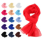 Fashion Women Lady Long Chiffon Neck Soft Voile Scarf Scarves Wrap Shawl Gift UK