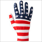 NOBLE OUTFITTERS HORSE RIDING NYLON TRUE FLEX ROPING GLOVE STAR STRIPES