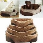 Bunty Mocha Dog Bed Soft Washable Fleece Fur Cushion Warm Luxury Pet Basket