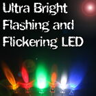 Ultra Bright Flashing / Flickering LEDs 3mm/5mm/8mm/10mm Multi Colour UK Seller