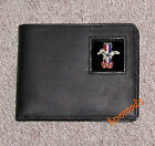 New Genuine Leather Wallet FORD MUSTANG 1968 METAL LOGO Bi-fold or Tri-Fold