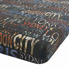 Catherine Lansfield City Life New York London Paris Sydney Bedding Fitted Sheet
