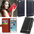 Luxury Handmade Real Leather Wallet Flip Case Cover For Apple Iphone 6 An 6 Plus