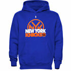 NEW Mens MAJESTIC New York NY KNICKS Game Face Hoodie NBA Big Tall Sweatshirt