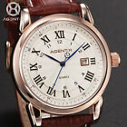 AGENTX 5 Colours Date Display Roman Dial Mens Charm Business Wrist Watch + Box