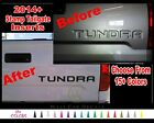 14 15 16 Toyota Tundra Tailgate Insert Letter Vinyl Decal Sticker Bed Kit