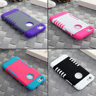 "For Apple iPhone 6/6s 4.7"" Hybrid Shockproof Soft Rubber Impact Hard Case Cover"