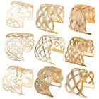 New Fashion Women's Luxury Gold Plated Wide Bangle Cuff Hollow Bracelet Jewelry