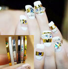 2 Pcs 2mm Nail Art Roll Striping Tape Line Decal Decoration Sticker Set