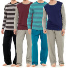 Mens Lounge PJ Pyjamas Sets Night Wear PJ's 2 Piece Pyjama Set Gents Size M-XXL