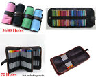 Canvas Pencils Pens Holder Pouch Portable Bag Case For 36/48/72 PCS