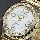 Fashion Women Ladies Girl Bling Crystal 3 Colours Strap Wrist Quartz Watch Gift