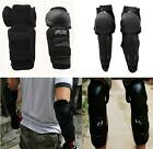 1x Adults Motocross Body Protection Armour Support Knee Guard Shin Black Pads LA