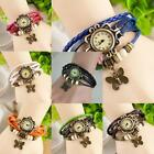 Women Wrist Watch Vintage Fashion Butterfly Bracelet Faux Leather Quartz MSYG