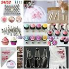 24 52 Icing Piping Nozzles w/ 100pcs Bags Tips Kit Cake Decorating Sugarcraft LA