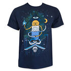 Adventure Time Men's Navy Illuminati Tee Shirt Blue