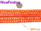 """7mm Coin Red Pink White Orange Coral Jewelry Making Design Beads  Gemstone 15"""""""