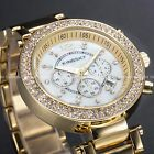 Fashion Women Ladies Bling Crystal Date Steel Bracelet Wrist Quartz Watch Gift