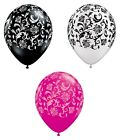 """Pack of 6 Qualatex 11"""" Damask Design Print - Party Balloons (Helium or Air fill)"""