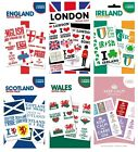 TATTOO PACKS - England, Wales, Scotland, Ireland, Keep Calm, LDN 2 sheets)