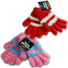 GIRLS LADIES MAGIC THERMAL WINTER GLOVES KNITTED OUTDOOR INSULATED LUXURY FURRY