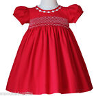 Sofia Baby Toddler Girls Smocked Red Christmas Dress Coordinates Siblings 17968
