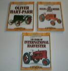 LOT of 3 Classic TRACTOR books * Allis-Chalmers / Oliver Hart-Parr / IH *Wendel
