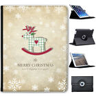 Christmas & New Year Wishes Folio Cover Leather Case For Apple iPad