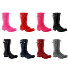 Womens Original Short Gloss Waterproof Rain Winter Rubber Snow Boots UK 3-10